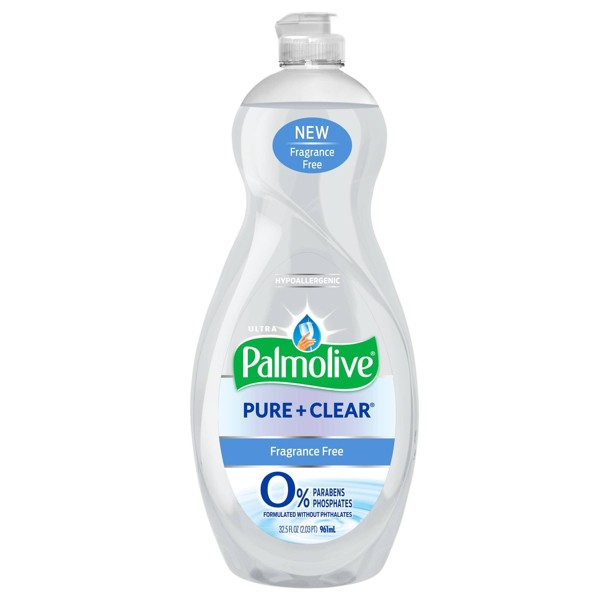 Palmolive Ultra Liquid Dish Soap - Pure and Clear - Fragrance Free - 32.5 fl oz