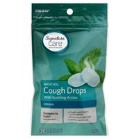 Signature Cough Drops, Menthol, Original