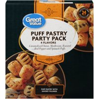 Great Value Pastry Party Pack, 4 Flavors Puff, 15.2 Oz, 24 Count