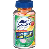 Alka-Seltzer Extra Strength Heartburn Relief Chews Chewable Tablets Assorted Fruit - 36 CT