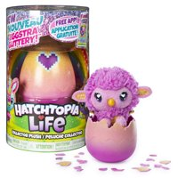 Hatchimals Hatchtopia Life, 2-inch tall Plush Hatchimals with Interactive Game, for Ages 5 and Up (Styles May Vary)