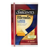 Sargento® Blends™ Two Cheese Cheddar slices