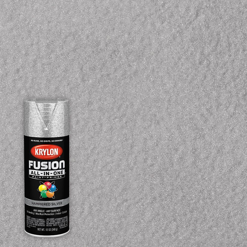 K02783007 Fusion All-In-One Spray Paint + Primer, Hammered Brown, 12-oz. - Quantity 1