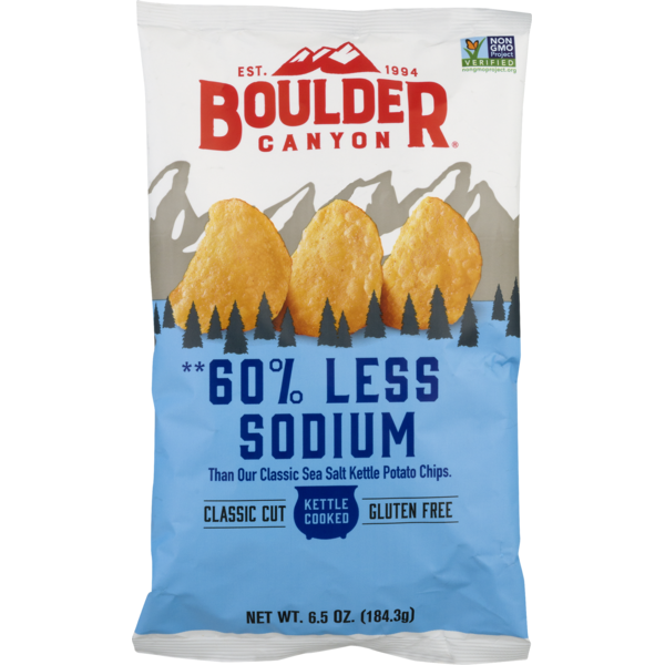 Boulder Canyon 60% Less Sodium Kettle Cooked Potato Chips