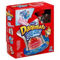 Danimals Yogurt, Lowfat, Strawberry Explosion Flavor