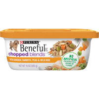 Purina Beneful Wet Dog Food, Chopped Blends With Chicken - 10 oz. Tub