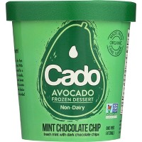 Cado Non-Dairy Avocado Frozen Dessert Mint Chocolate Chip - 1pt