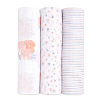 ideal baby, swaddles, rosy 3-pack