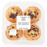 Freshness Guaranteed Chocolate Chip Muffins, 14 oz, 4 Count