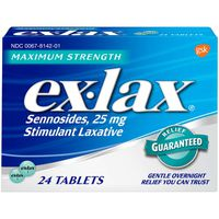 ex-lax Maximum Strength Stimulant Laxative Pills