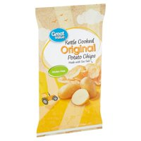 Great Value Kettle Cooked Original Potato Chips, 8 oz