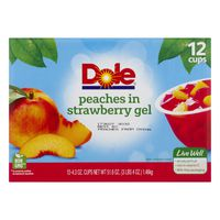 Dole Peaches, in Strawberry Flavored Gel