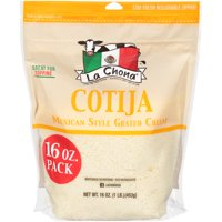 La Chona Cotija Ready-to-Use Mexican Style Grated Cheese, 16 oz.