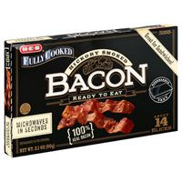 H-E-B Hickory Smoked Fully Cooked Bacon