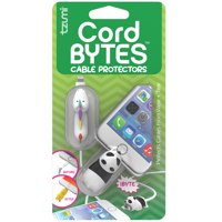 Tzumi Cord Bytes 2-Pack - Silicone Universally-Fitting Cable Protectors: Unicorn and Panda