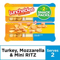 Lunchables Snack Duos Turkey and Mozzarella with Ritz Bits, 3.66 oz Package