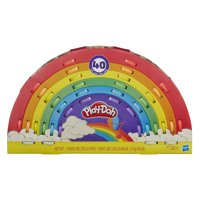 Play-Doh Ultimate Rainbow 40 Pack including Play-Doh Sparkle Compound & 3 Tools, 40 oz