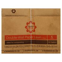 Signature Select Lawn Bags, Double Wall Paper