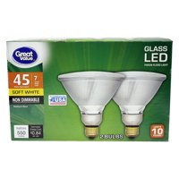 Great Value PAR38 LED Flood Light Bulbs 7W (45W) 2PK