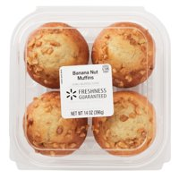 Freshness Guaranteed Banana Nut Muffins, 4 count