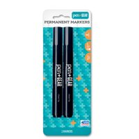 Pen & Gear® Permanent Markers 2 ct Carded Pack