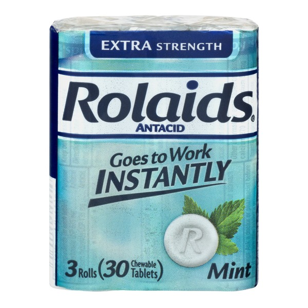 Rolaids Antacid Extra Strength Chewable Tablets Mint