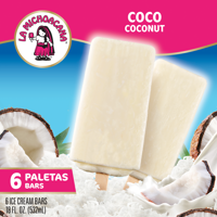 La Michoacana Coconut Paleta Bars, 6ct