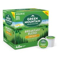 Green Mountain Coffee Breakfast Blend Single-Serve Keurig K-Cup Pods, Light Roast Coffee, 48ct