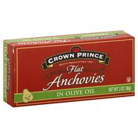 Crown Prince Flat Anchovies, in Olive Oil