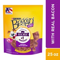 Purina Beggin Strips Dog Training Treats Original With Bacon 25 oz. Pouch