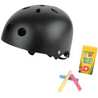 Crayola Chalk Surface Ultra-light Bike Helmet, for Ages 5 to 8