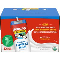 Horizon Organic Original 1% Lowfat Milk, 8 fl oz, 12 count
