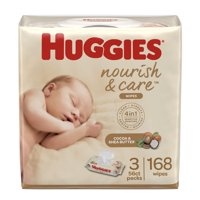 Huggies Nourish & Care Baby Wipes (Choose Your Count)