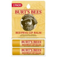 Burt's Bees 100% Natural Origin Moisturizing Lip Balm, Beeswax, 2 Tubes In Blister Box