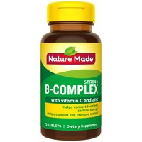 Nature Made Stress B - Complex with Vitamin C and Zinc Tablets - 75ct