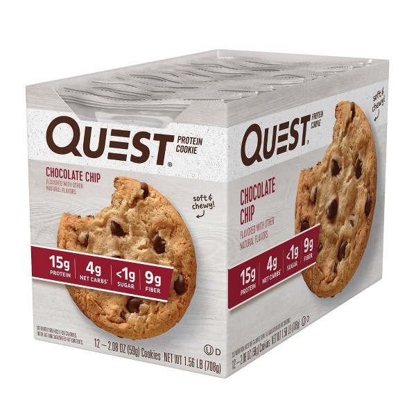 Quest Protein Cookie - Chocolate Chip - 12ct