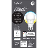 GE LED 9.5W (60W Equivalent) C by GE Smart Home Light Bulb, Tunable White, E26 Medium Base, 13 Year Life, 1pk