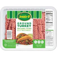 Jennie-O Fresh All-Natural 93% Lean/7% Fat Ground Turkey
