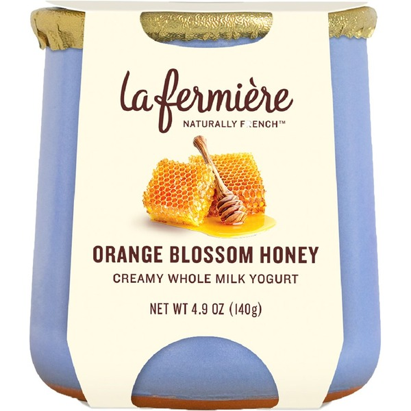 La Fermiere Yogurt, Whole Milk, Creamy, Orange Blossom Honey