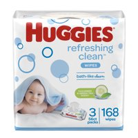 Huggies Natural Care Refreshing Baby Wipes, Cucumber Scent (Choose Your Count)