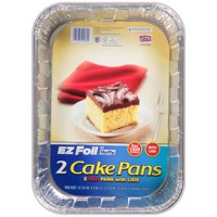 Hefty EZ Foil Red Cake Pans with Lids, 2 Count