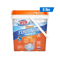 HTH Super Chlorinating Tablets for Swimming Pools, 5 lbs.