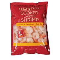 Great Catch Shrimp, Cooked, Tail On, Large