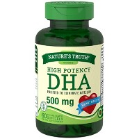 Nature's Truth High Potency DHA Dietary Supplement Softgels - 60ct
