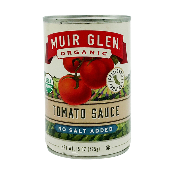 Muir glen Organic Tomato Sauce (No Salt Added), 15 oz