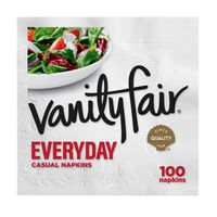 Vanity Fair Everyday Casual Napkins Shipper, Disposable White Paper Napkins