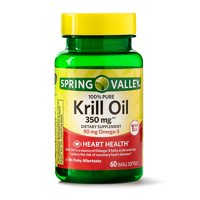 Spring Valley Pure Krill Oil Softgels, 350 mg, 30 Count