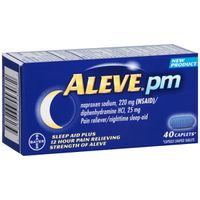 Aleve pm Pain Reliever Nighttime Sleep-Aid Caplets