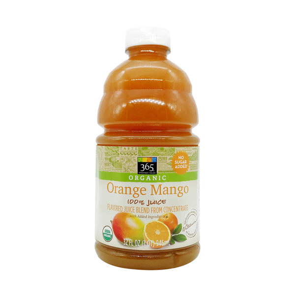 365 everyday value® Organic Orange Mango Juice, 32 fl oz
