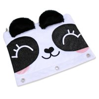 U Style 3 Ring Binder Pouch - Panda with Fuzzy Ears